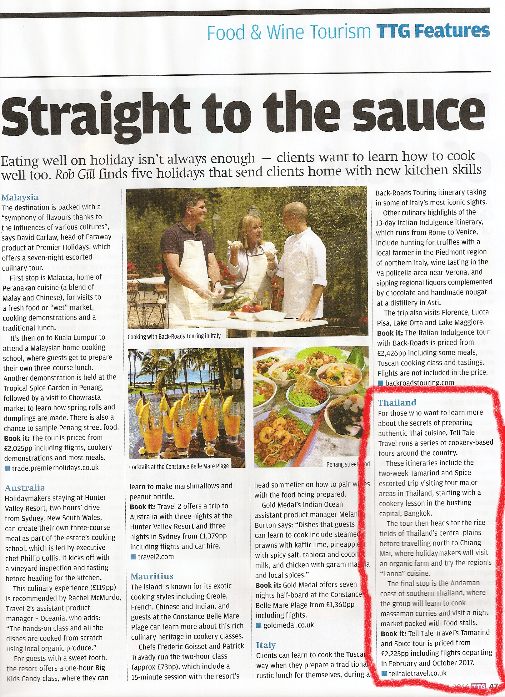 01e07e575e4 ... TTG, recommends agents book their clients onto Tell Tale Travel's  Tamarind & Spice cookery tour to Thailand in